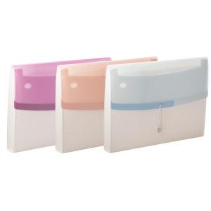 A4 Expanding filing case color dream
