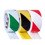Safety tape rolls - yellow-black - 33m - 1 - pvc