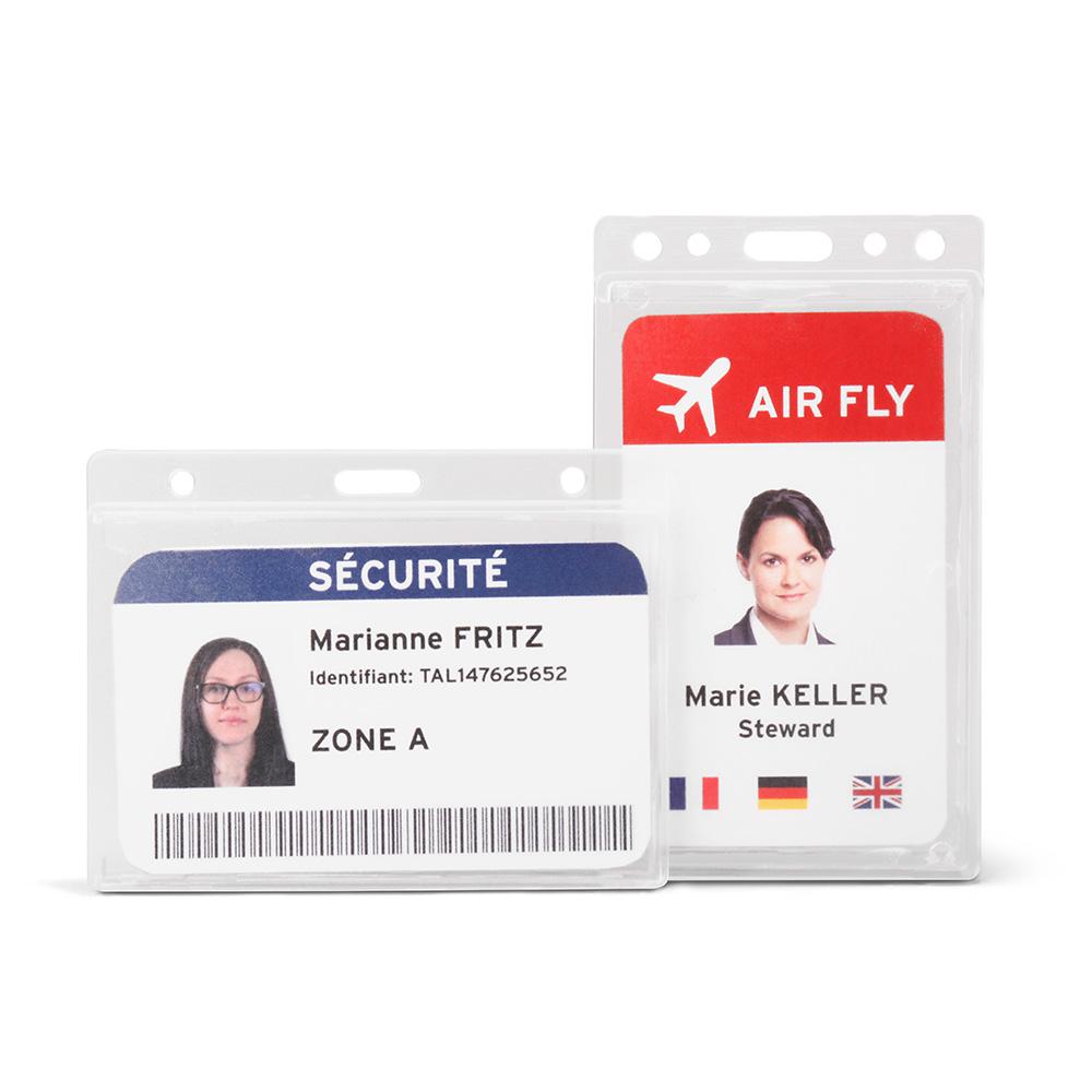 Hard Plastic ID Card Business Horizontal Vertical Holder Badge Office Document