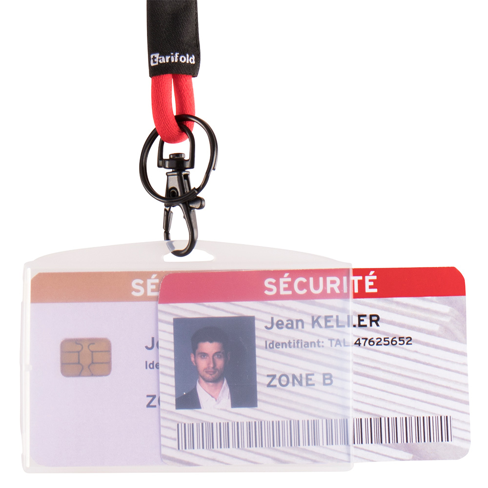 ID Straps With Alligator Clip and Pin for ID Security Card Holders To Lanyard
