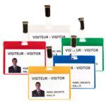 Visitor Name Badge Kit - PVC - transparent - 103-x-825-mm - 25 - france - strap-clips