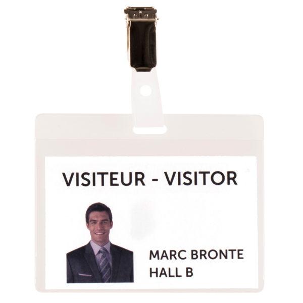 Visitor Name Badge KIT PVC transparent