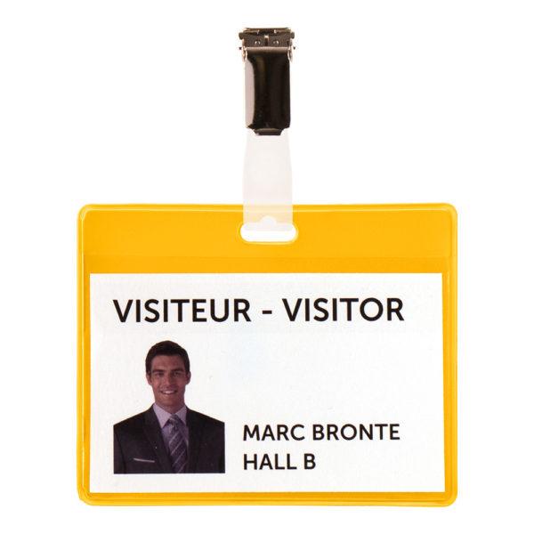 Visitor Name Badge KIT PVC yellow