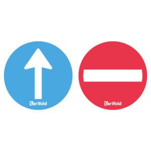 Tarifold Aufkleber - Richtungszeichen