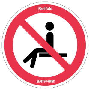 Tarifold Stickers Forbidden to take a seat