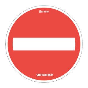 Tarifold Runder Fußbodenaufkleber 'Kein Durchgang'