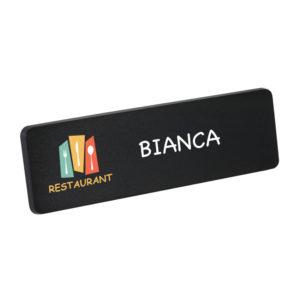 Chalk board name badge