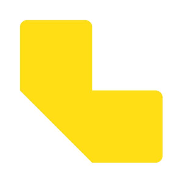 Floor Marking L-symbols yellow