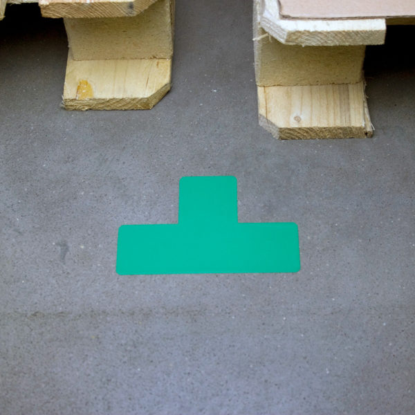 Floor Marking T-symbols green