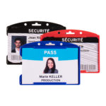 Security ID Card Holders - Open Face - blue - 10 - france - color-badge-reels