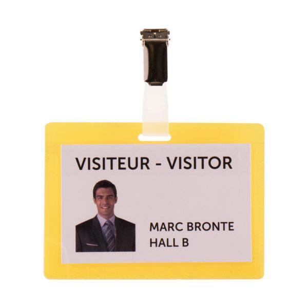 Self-Laminating Badge Kit Yellow