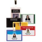Self-laminating ID Badges - transparent - 70-x-107-mm - 25 - strap-clips