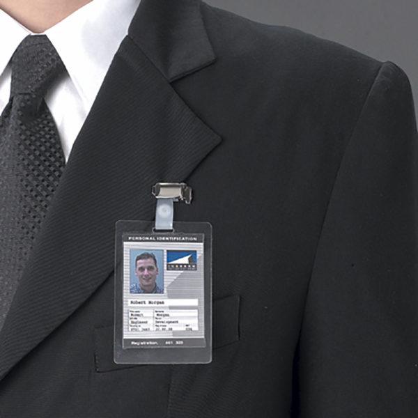 Self-laminating badges