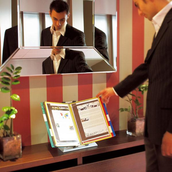 Tarifold Metal Desk display system