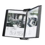 Tarifold VEO Wall Display Unit, 10 Black Pockets - black-us - a4-us - 10-us - france-us
