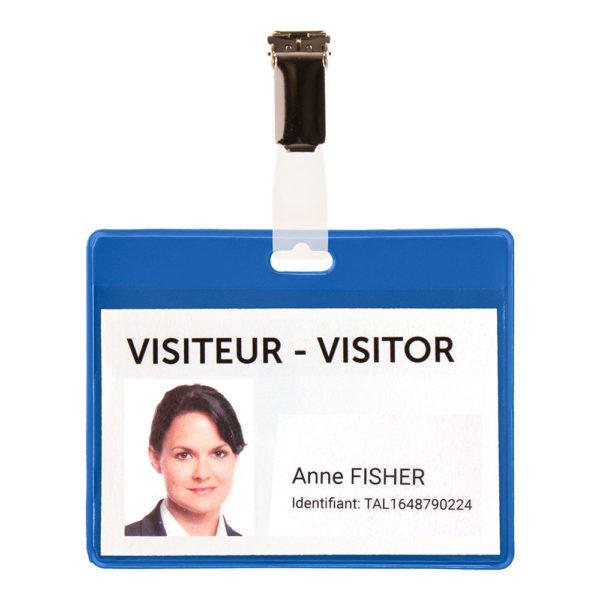 Visitor Name Badge KIT PVC blue