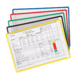 Repositionable Adhesive Pockets - assorted-5-colors-3 - a4 - 5 - france