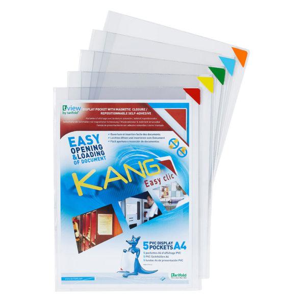 Tarifold Kang Easy Clic repositionable signage pockets