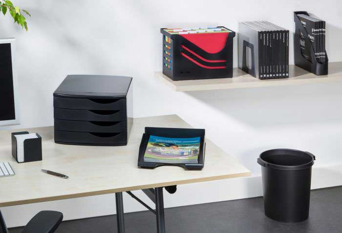Memo cube / Drawet set / Letter tray / Suspension file box / Bookends / Magazine files / Office waste bin (Jalema)