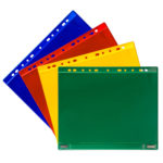 Perforated Magnetic Double-Sided Pockets - blue - a4 - 5 - france