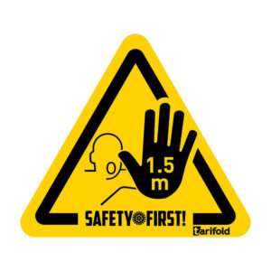 Tarifold 1,5 meter Safety stickers