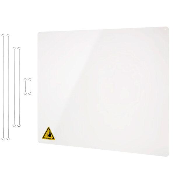 Hanging protective acrylic screen