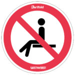Sticker 'Forbidden to take a seat' - red-white - o-250-mm - 2 - netherlands