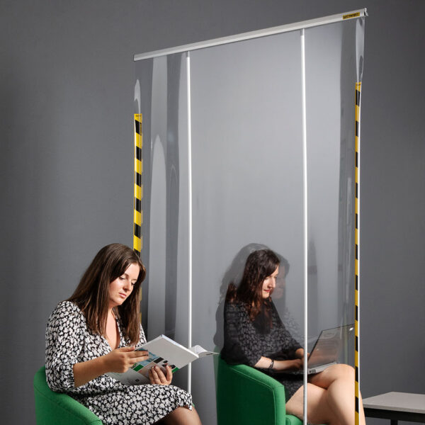 Transparent protective roll-up screens