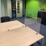 Modular desk top transparent protective screens - transparent - 690-x-650-mm - 2 - netherlands