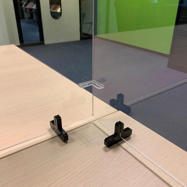 Modular desk top transparent protective screens Tarifold