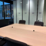 Transparent protective desk screens with clamps - transparent - 1400-x-650-mm - 1 - netherlands